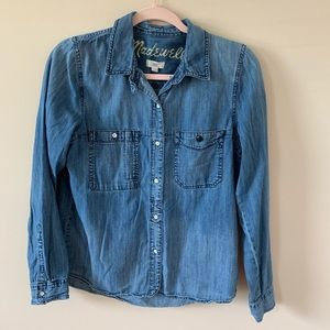 Madewell denim chambray button down #43